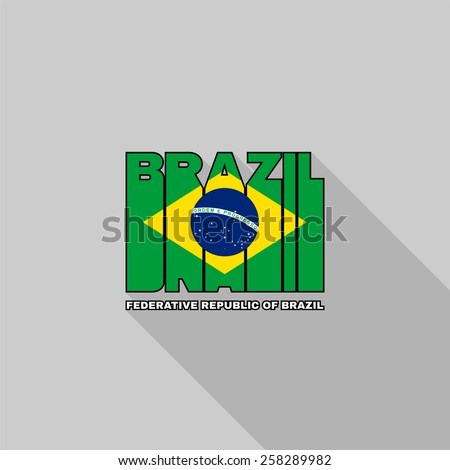Federative Republic Of Brazil Flag Images - Federative republic of brazil map
