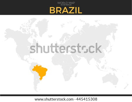 Federative republic brazil location modern detailed stock vector federative republic of brazil location modern detailed vector map all world countries without names gumiabroncs Images