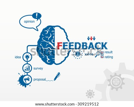 Feedback concept. Business vector concept for presentations and reports - stock vector
