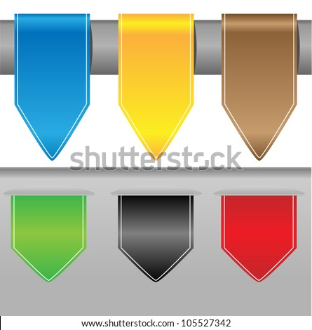 Feedback Labels / Stickers on the edge of the (web) page vector. - stock vector