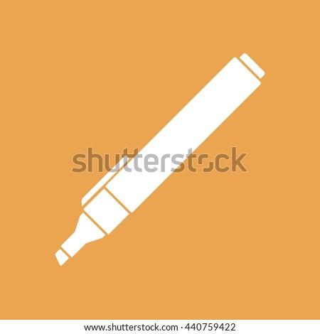 Felt pen vector icon. Pencil vector illustration - stock vector