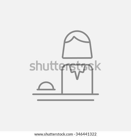 Femal receptionist line icon for web, mobile and infographics. Vector dark grey icon isolated on light grey background. - stock vector