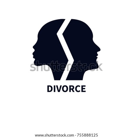 Female Male Profiles Faces Turned Different Stock Vector Hd Royalty