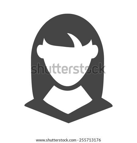 Female client vector image to be used in web applications, mobile applications and print media. - stock vector