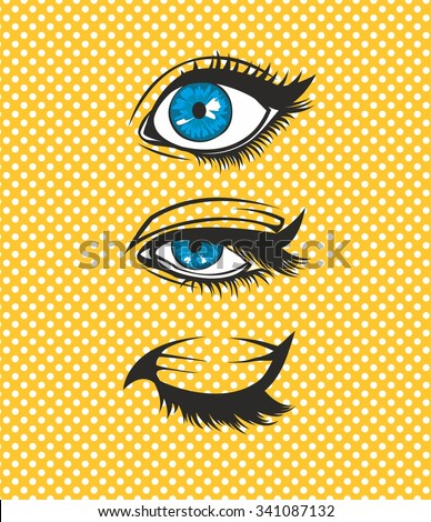 Female eyes. Vector illustration. - stock vector