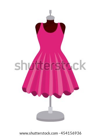 female fashion dress isolated icon design