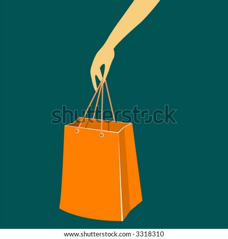 Female hand with shopping bag