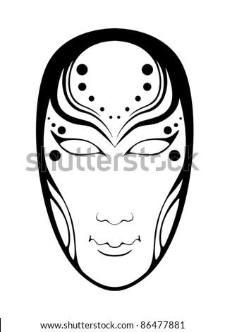 Female mask - stock vector