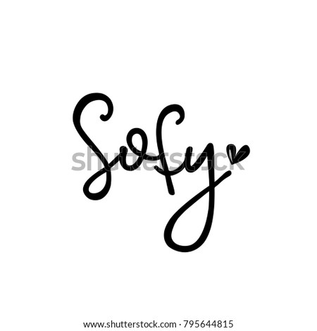Female name sofy template invitation greeting stock vector royalty female name sofy template for invitation and greeting cards envelopes t shirts stopboris Images