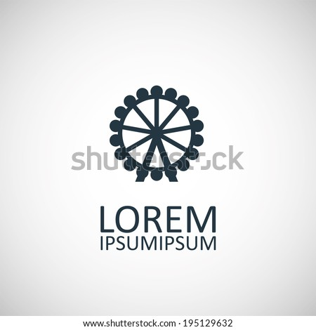 ferris wheel icon - stock vector