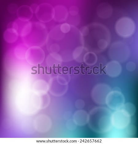 Festive background with defocused lights - stock vector