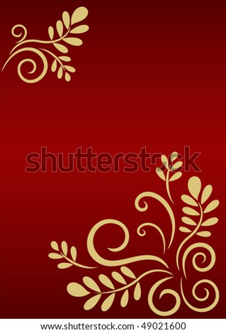 Festive background with golden floral ornament. Vector card for Your greetings
