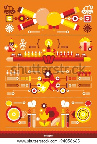 Festive beautiful infographics - stock vector
