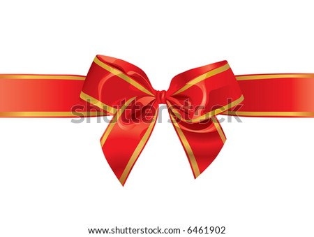 Festive Bow (vector). In the gallery also available XXL jpeg image made from this vector - stock vector