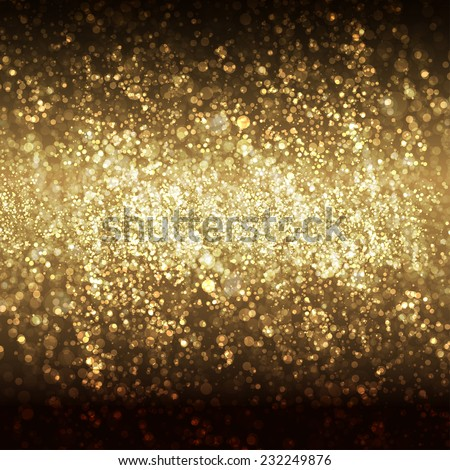 Festive Christmas and New Year bokeh background, easy all editable - stock vector