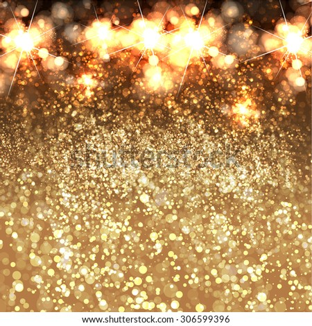Festive Christmas and New Year glitter background easy all editable - stock vector