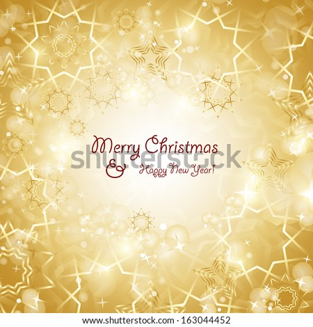 Festive Christmas Background - Vector Illustration, Graphic Design Useful For Your Design  - stock vector