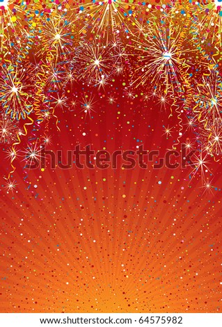 Festive colorful vector background template - stock vector