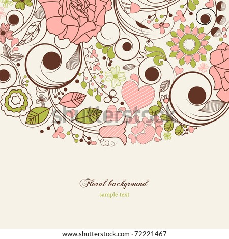 Festive floral background - stock vector