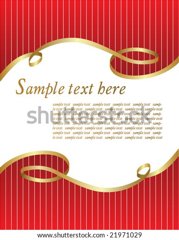Festive form vector - stock vector