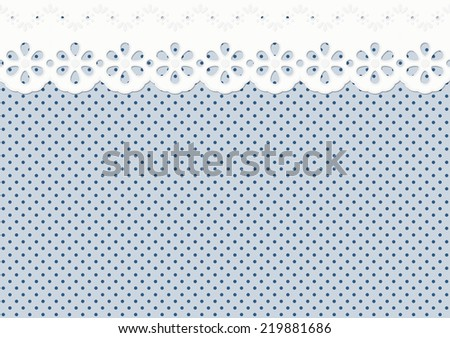 Festoon, ornament on spotted pattern - endless - stock vector