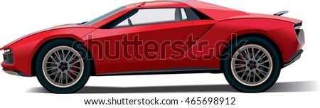 fictional red car
