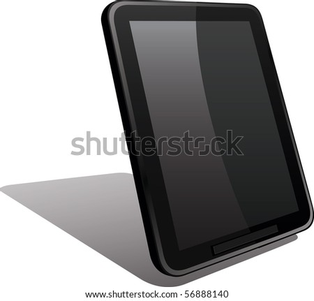 Fictitious tablet touch pad vector image - stock vector