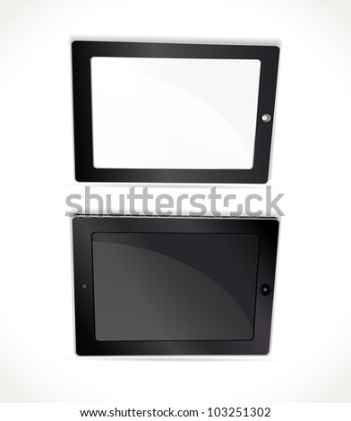 fictitious touch pad vector illustration - stock vector