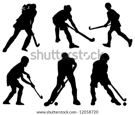 Field hockey player vector