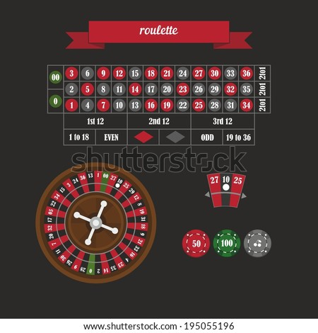 Field roulette. Flat style design - vector  - stock vector