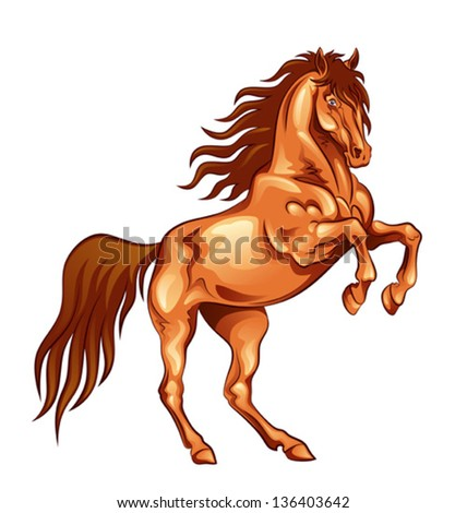 Fiery horse - stock vector