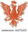 Fiery Phoenix - stock vector