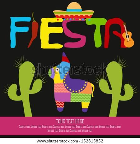 Fiesta - stock vector