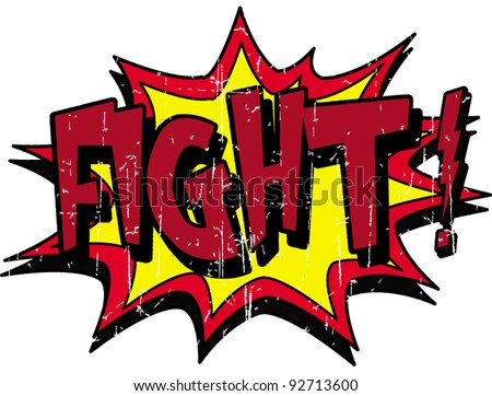 fight - stock vector