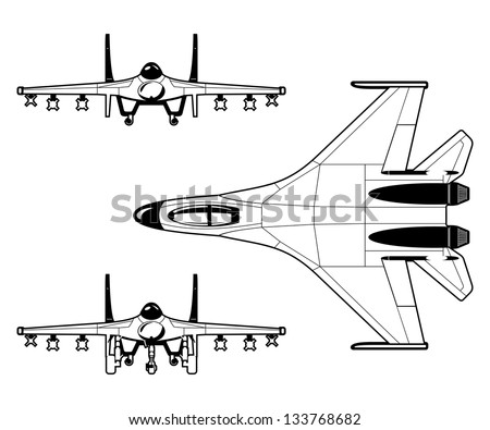 fighter - stock vector