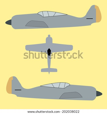 Fighter aviation - stock vector