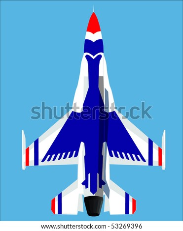 Fighter jet - stock vector