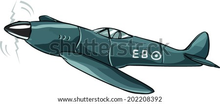 Fighter Plane - stock vector