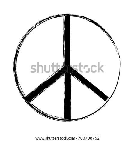 Figure Hippie Peace Love Symbol Design Stock Vector 703708762