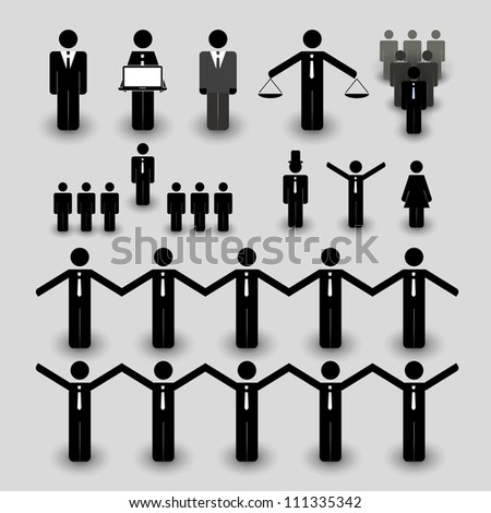 Figure, People Icon - Business and Team Work Concept - stock vector