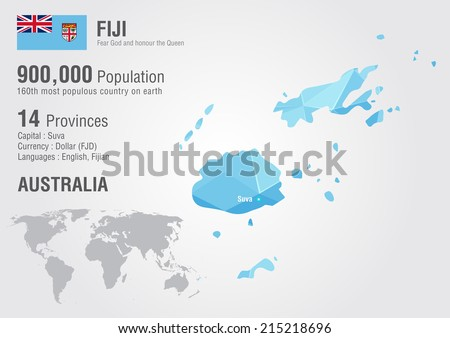 Fiji map stock images royalty free images vectors shutterstock fiji world map with a pixel diamond texture world geography gumiabroncs Images