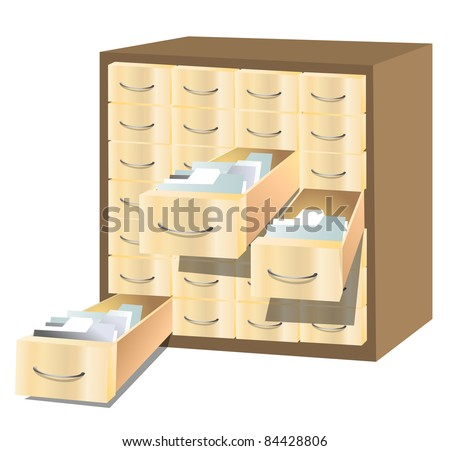 File cabinet (vector) - stock vector