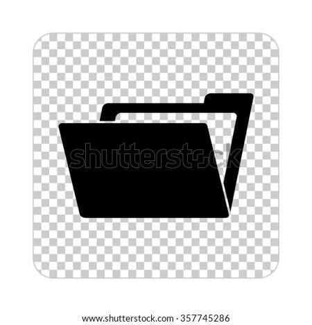 File Folder -  black vector icon - stock vector