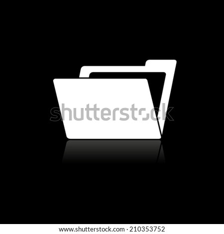 File Folder icon with shadow - stock vector