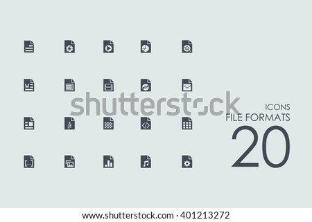 file formats vector set of modern simple icons - stock vector