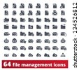 File management icons: vector set of administration signs for web and application - stock vector