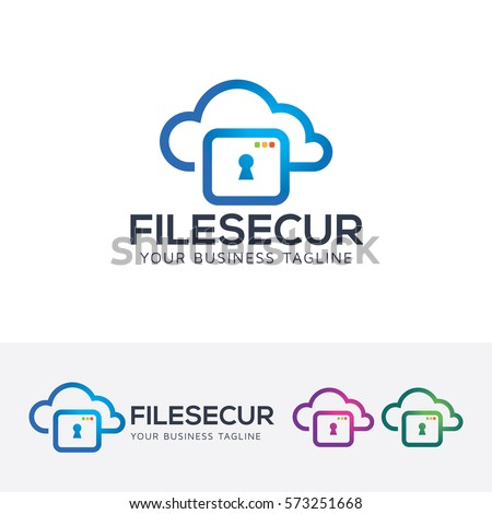 File Security Security Technology Data Cloud Stock Vector HD ...