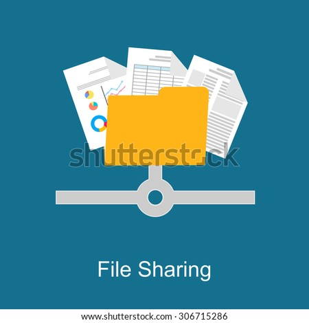 File sharing concept.  - stock vector