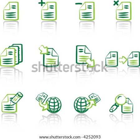 Files & Documents 1 Green on white background