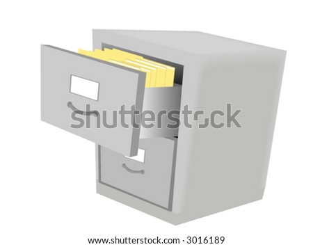 Filing Cabinet - Vector - stock vector